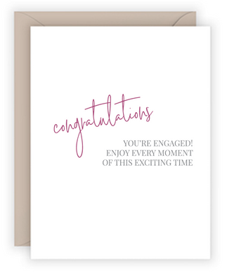 Engaged Excitement Greeting Card