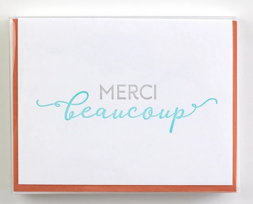 French Thank You Cards - Box of 5