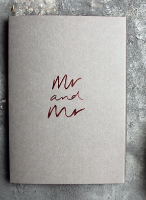 Mr and Mr - Grey Greeting Card