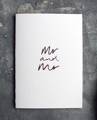 Mr and Mr - White Greeting Card