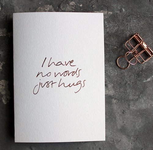 I Have No Words Just Hugs Greeting Card