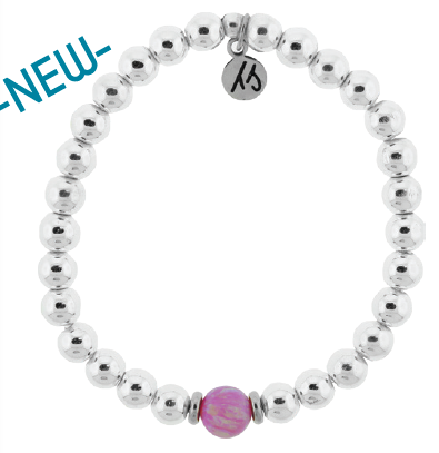 Cape Bracelet with Pink Opal - New January 2021!