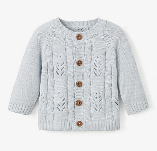 Blue Leaf Cardigan