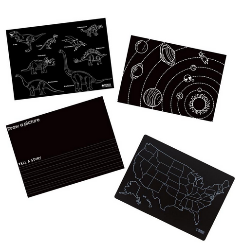 Chalkboard Placemat Learning Set of 4 12