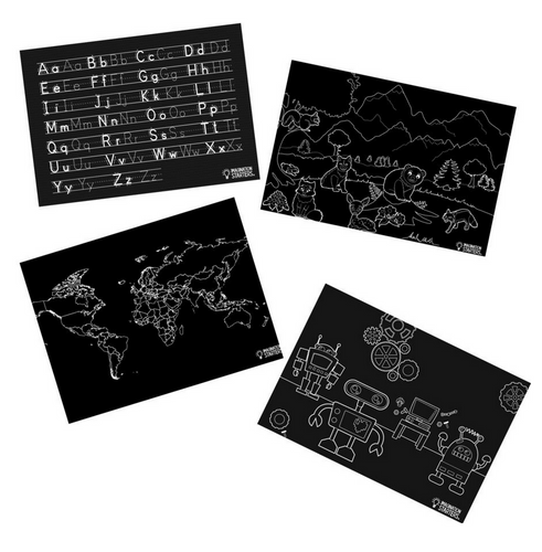 Chalkboard Placemat Fun & Learning Set of 4 12