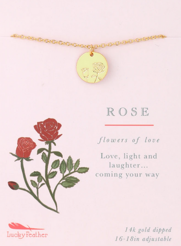Rose - Botanical Necklace
