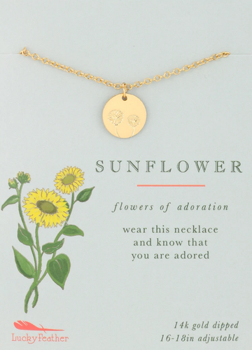 Sunflower - Botanical Necklace