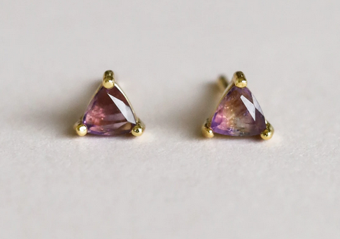 Amethyst Mini Energy Gem Earrings - Spiritual Growth