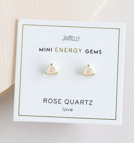 Rose Quartz Mini Energy Gems Earrings - Love