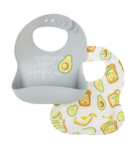 Avacado Brunch Silicone Bib Set
