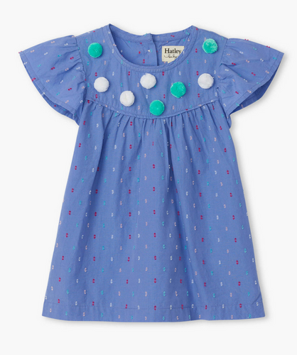 Candied Swiss Dots Baby Flutter Sleeve Dress