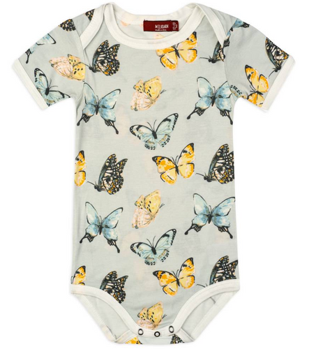 Butterfly Short Sleeve One Piece