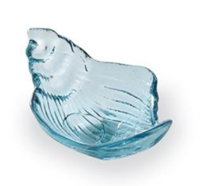 Conch Glass Trinket or Soap Dish