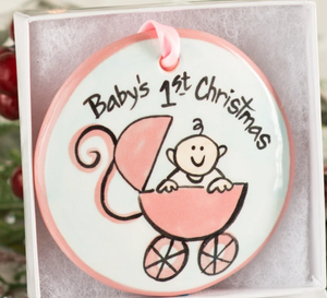 Baby's First Christmas Handpainted Ornament