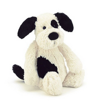 Load image into Gallery viewer, Bashful Black & Cream Puppy