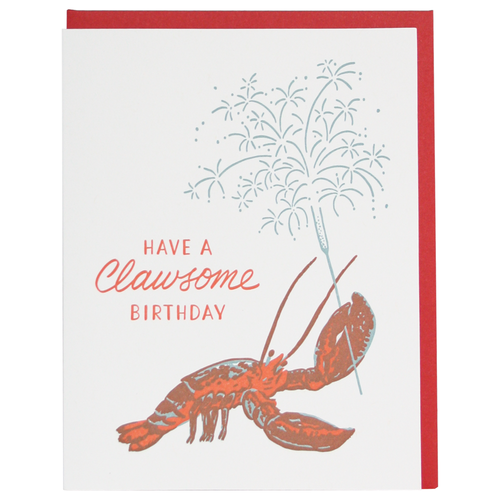 CLAWSOME LOBSTER BIRTHDAY CARD