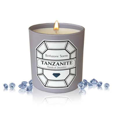 TANZANITE/DECEMBER BIRTHSTONE CANDLE