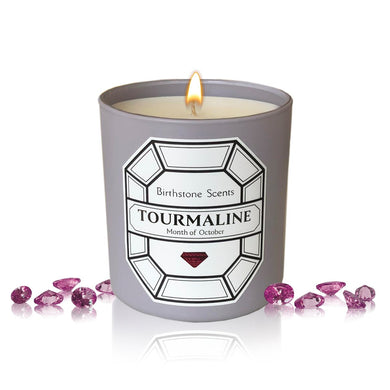 TOURMALINE/OCTOBER  BIRTHSTONE CANDLE