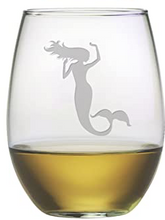 Load image into Gallery viewer, Mermaid Stemless Wine Glasses