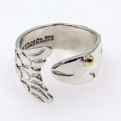 Fish Ring, Sterling Silver