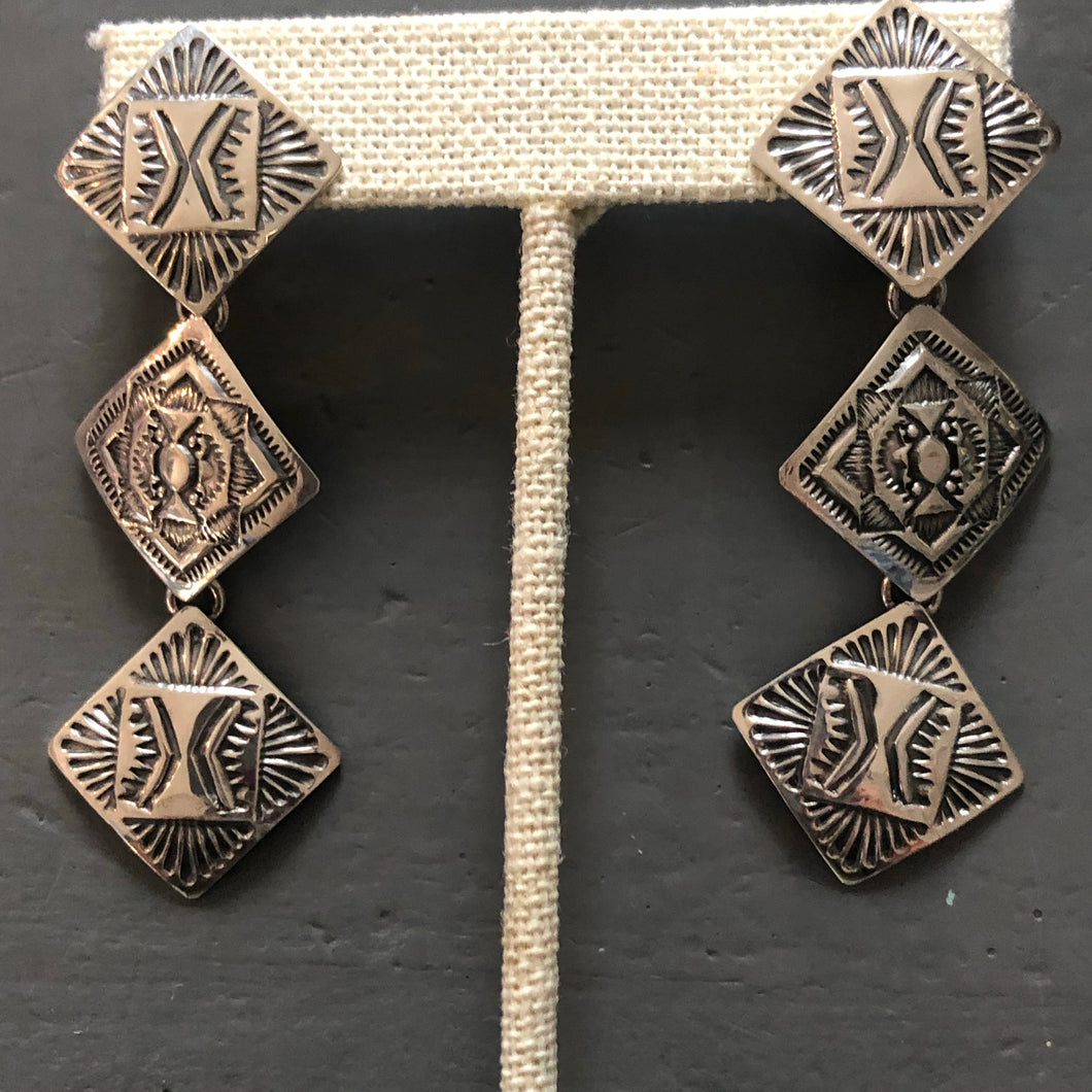 Sterling Silver Native American Earring