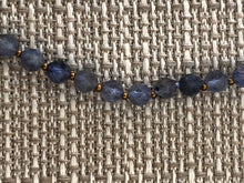 Load image into Gallery viewer, Necklace, faceted iolite