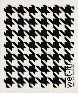 Black Houndstooth Wet-It! Reusable Cloth