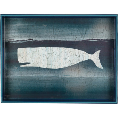 BLUE WHALE RECTANGULAR TRAY
