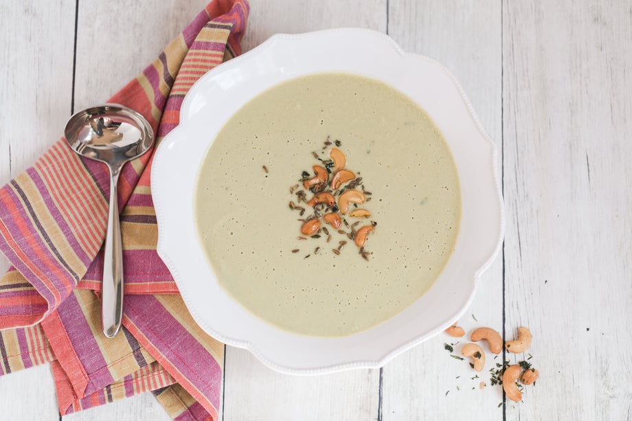 Herb Roasted Cauliflower Soup