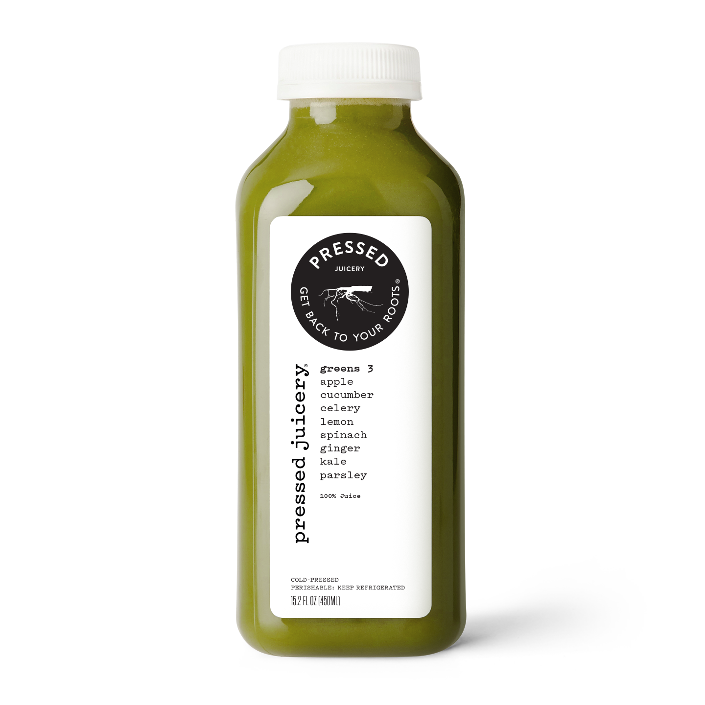 Greens 3 - Kale Apple Spinach Ginger Juice product image