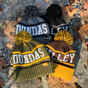 Dundas Valley Toboggan Knit Toque - Brown