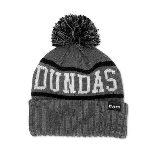 Dundas Valley Toboggan Knit Toque - Charcoal