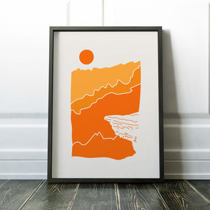 "Dundas Peak 12x16"" Screen Print"