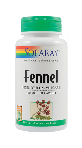 FENNEL (Fenicul) 450mg 100cps-Solaray | Remedii Online