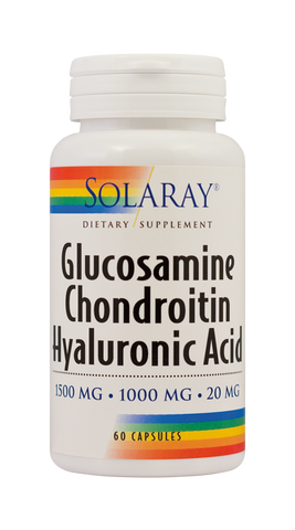 Glucosamine Chondroitin Hyaluronic Acid 60cps - Remedii-Online.ro