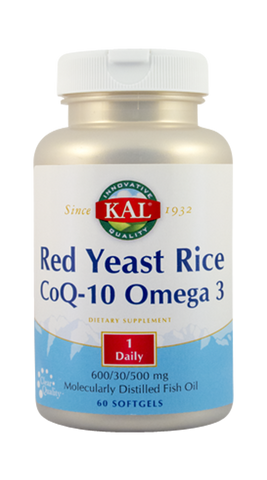 Red Yeast Rice CoQ-10 Omega 3 60cps - Remedii-Online.ro