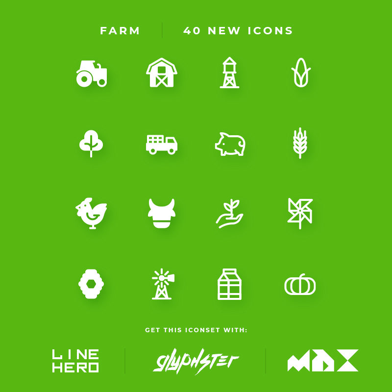 We have added new icons - Farm Icon Set
