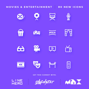 New Icons Added - Movies & Entertainment