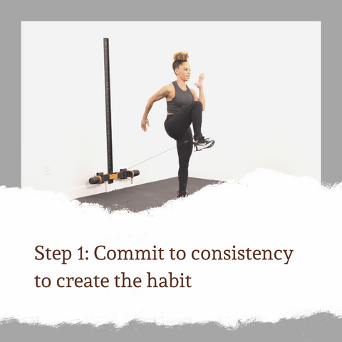 Commit to consistency to create the habit
