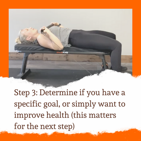 Determine if you have a specific goal