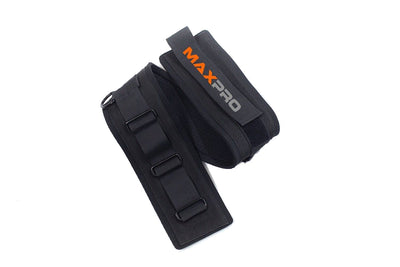MAXPRO Jump Trainer Belt increases vertical jump, improves leg strength, leg explosive power, agility, running speed, flexibility, balance, and endurance.