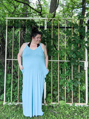 Double Vee Easy Maxi Dress Dresses Stacked - Fashion for Curves
