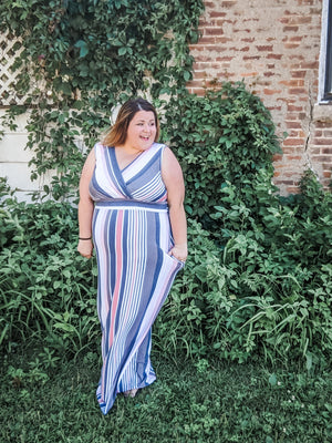 The Perfect Fit Striped Maxi Dress