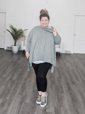 Lightweight Oversized Sweater with Cowl