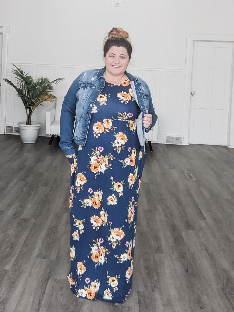 Fall Floral Maxi Dress Dresses sweet lovely by jen