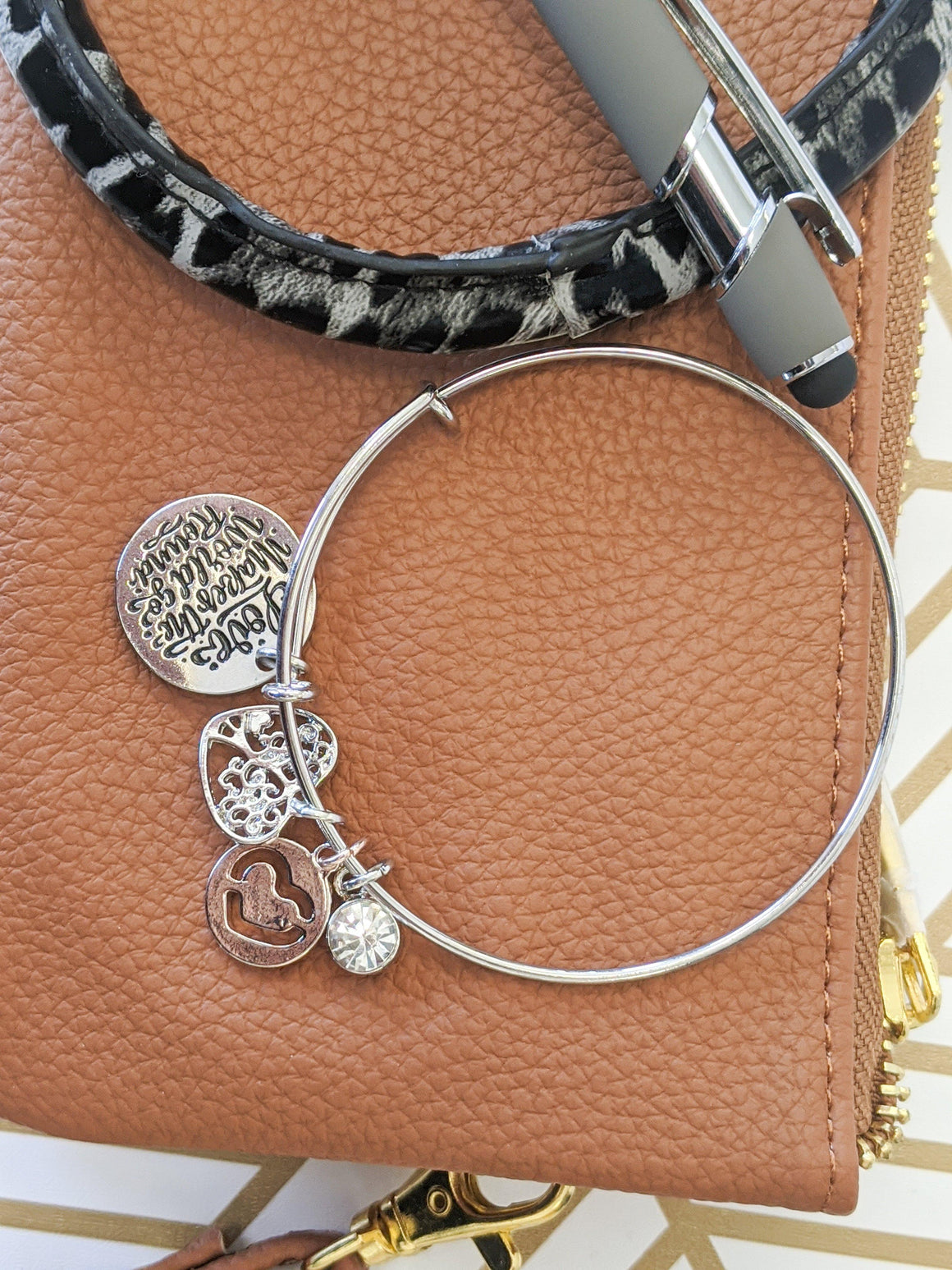Love Makes The World Go Round Charm Bracelet
