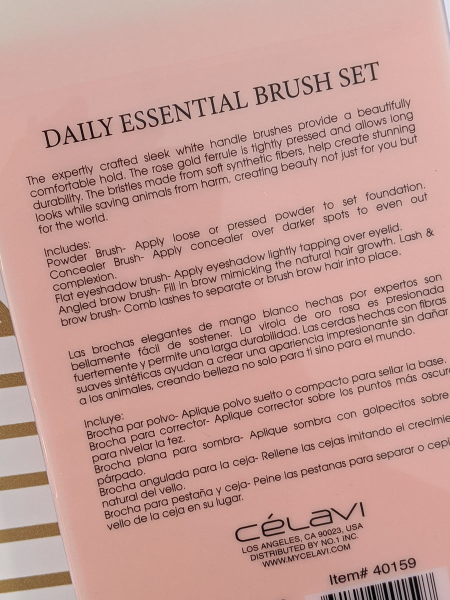 5 Piece Daily Essentials Brush Set