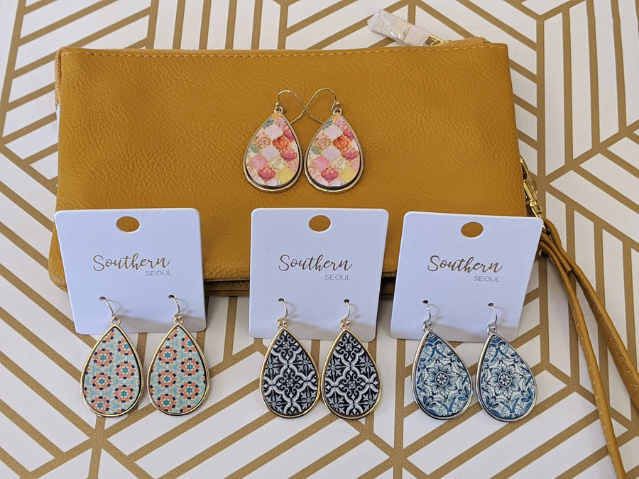Teardrop Tile Earrings (more colors!)
