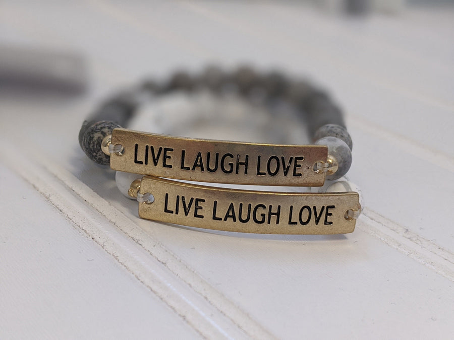 Live Laugh Love Beaded Bracelet Jewelry southern seoul