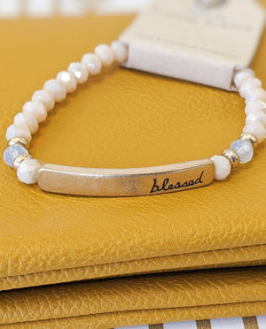 Light Peach Blessed Bracelet